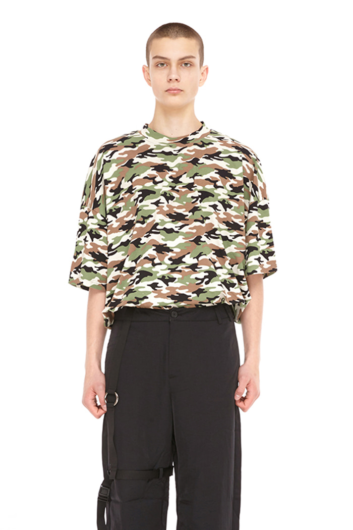 SIMPLE CAMO TOP (BLACK)