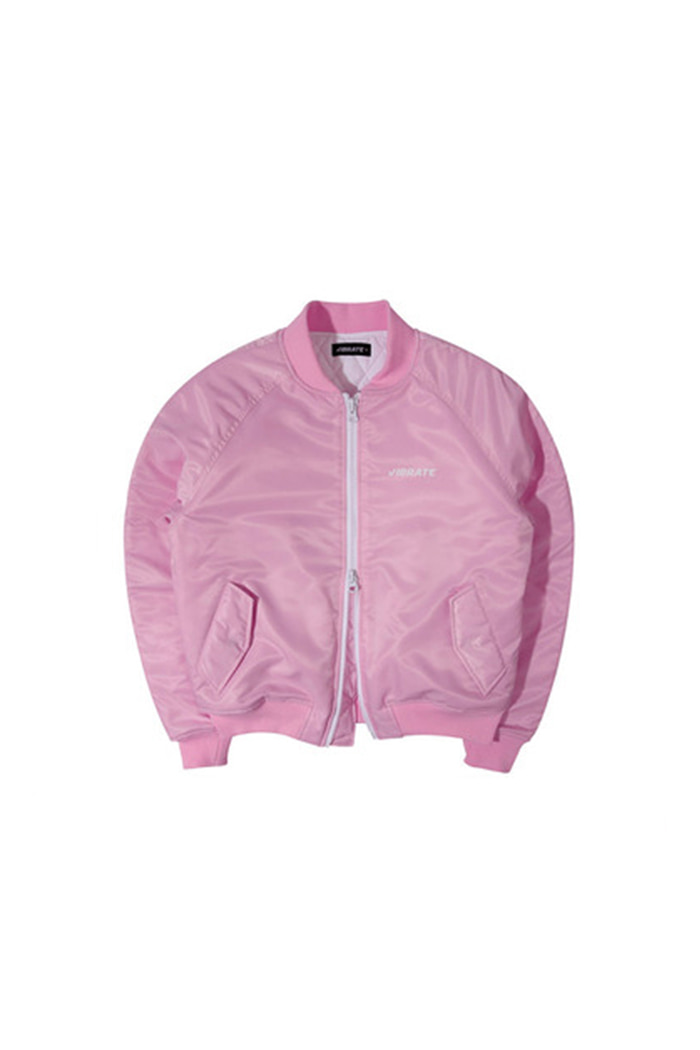SIGNATURE NAME MA-1 JACKET (PINK)