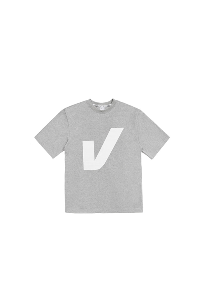 V BIG LOGO T-SHIRT (GRAY)