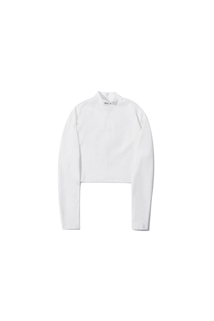 CROP TOP LONG SLEEVE (WHITE)