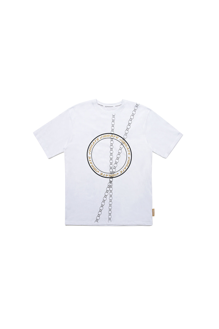 VIBRATE - ROUND CHAIN T-SHIRT (WHITE)