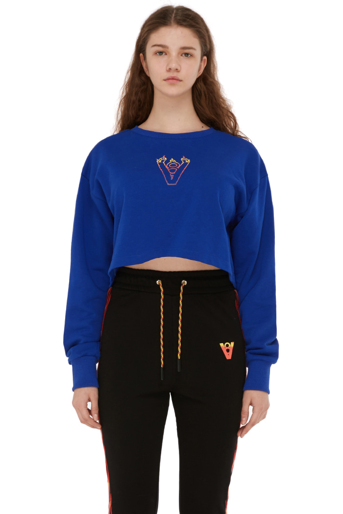 BLAZE LOGO CROP TOP (BLUE)