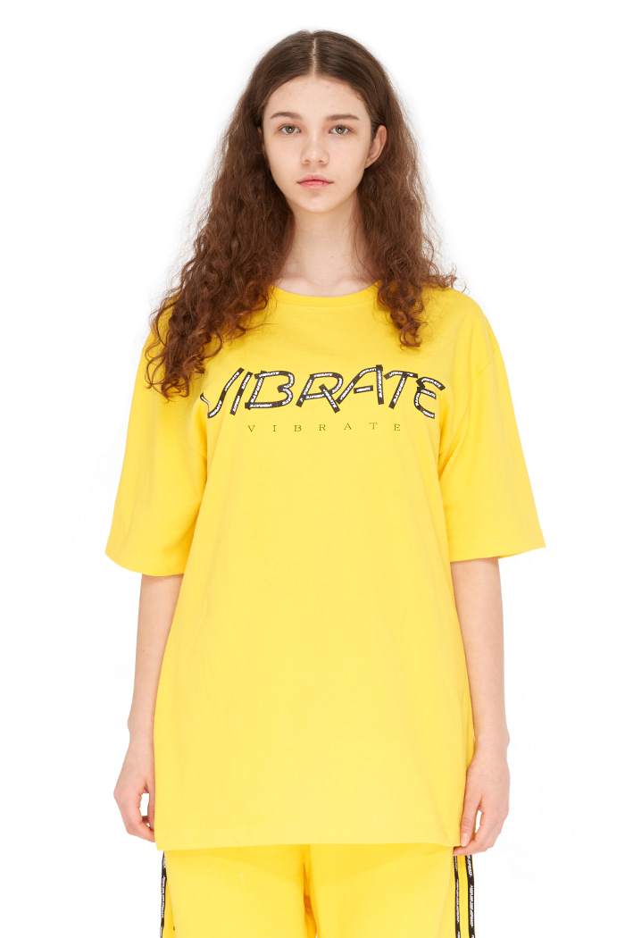 HERRINGBONE TAPE T-SHIRT (YELLOW)