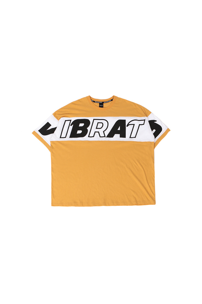 COLOR SCHEME LOGO T-SHIRT (WHITE&YELLOW)