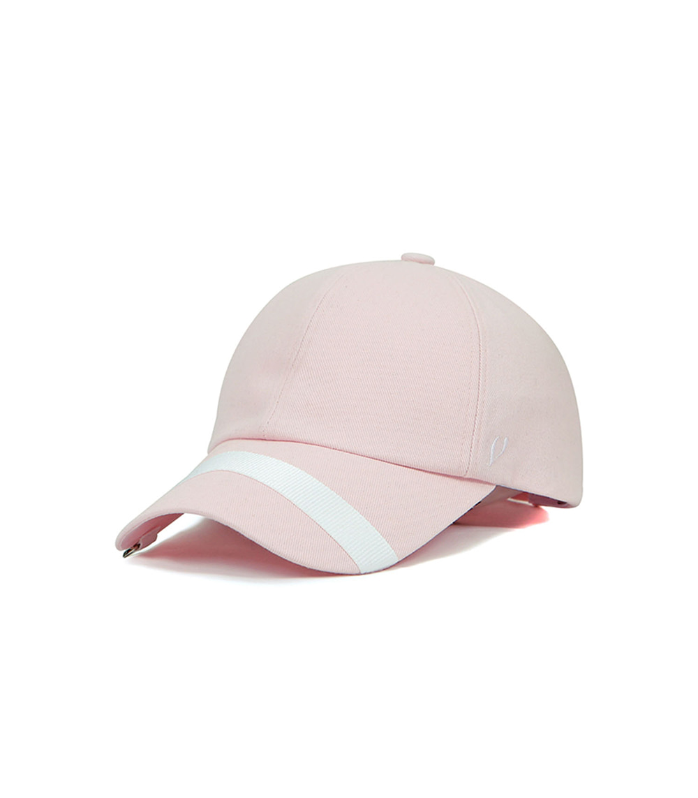 BLACK LINE - LOOP WEBBING & D RING BALL CAP (pink)