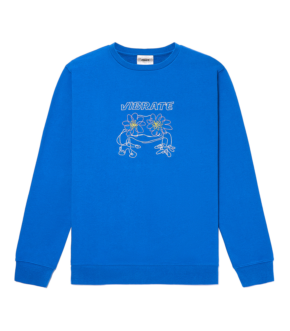 POP-EYES FROG LOGO SWEATSHIRTS (CLASSIC BLUE)