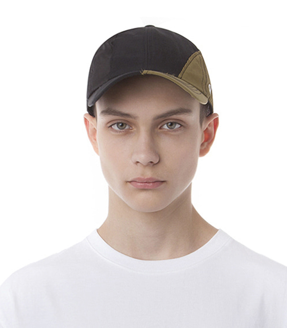 PIECE BALL CAP (BLACK & KHAKI)
