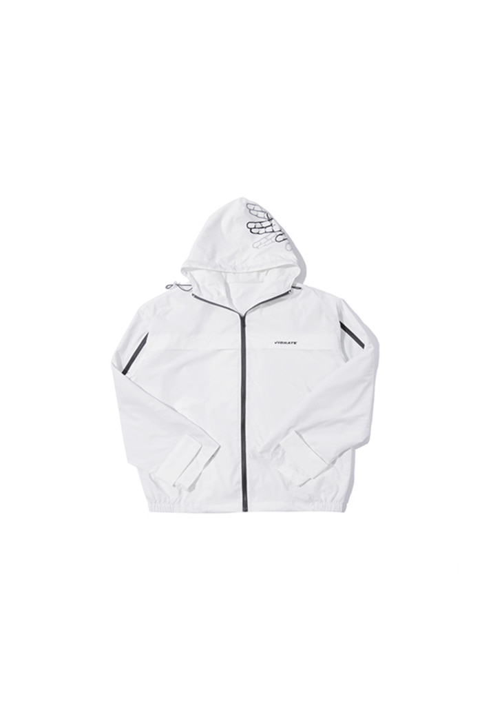 SIDE ZIPPER WINDBREAKER (WHITE)