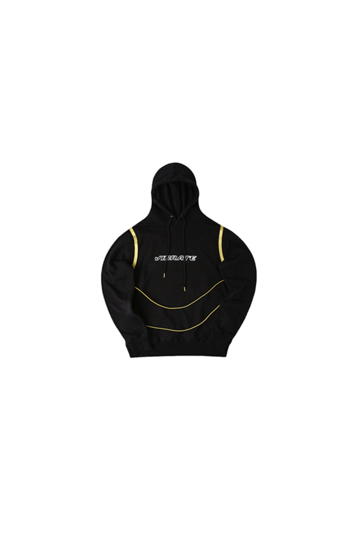 GOLDLINE STRING BODY POINT HOODIE (BLACK)