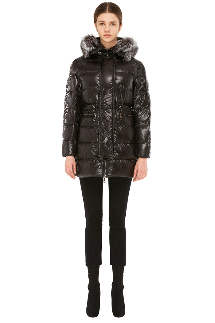 GLOSS HOODED DUCKDOWN JACKET (BLACK)