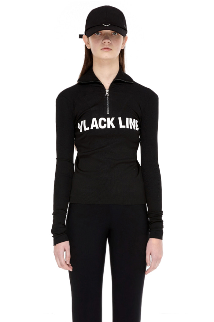 HIGHNECK ZIP TOP NO.2 (BLACK)