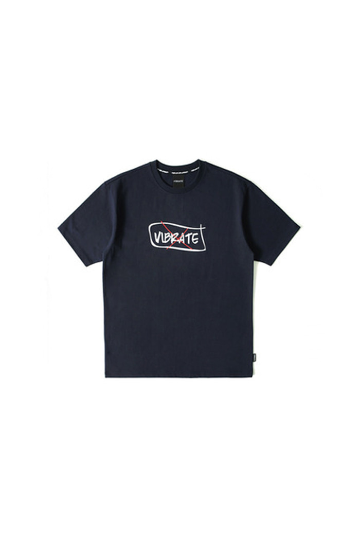 CURVED BORDER T-SHIRT (NAVY)