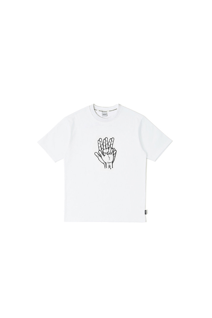 CLASSIC HAND SHAKE SIGN T-SHIRT (white)