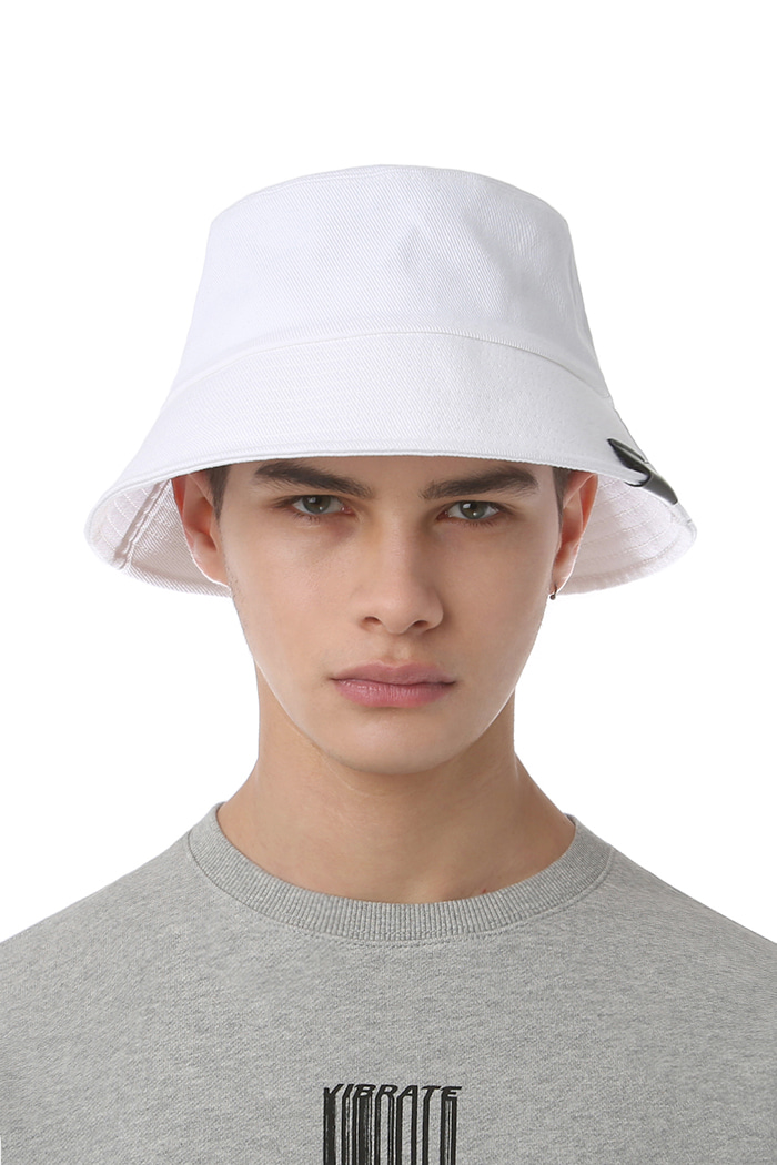 REAL COTTON BUCKET HAT (WHITE)
