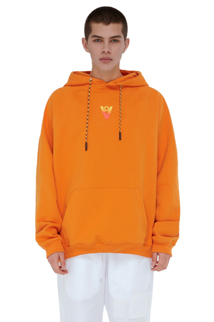 VIBE8IGHT ON BACK HOODIE (ORANGE)